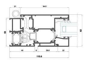 Alg 55-Seccion lateral apertura externa