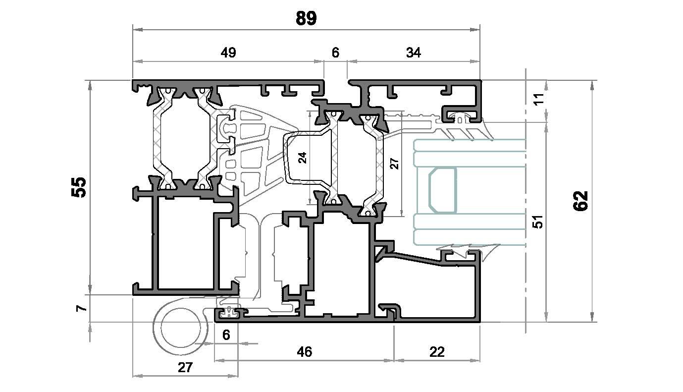 Alg 55-Seccion lateral ventana