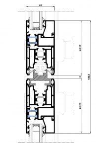 Matra 110rpt-Seccion cruce central 4 hojas corredera