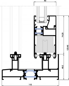 Matra 110rpt-Seccion inferior corredera