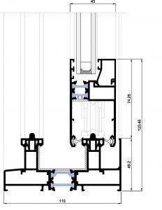 Matra 110rpt-Seccion inferior elevable