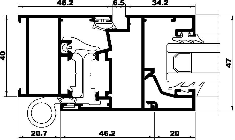 S-350eur-Seccion lateral ventana