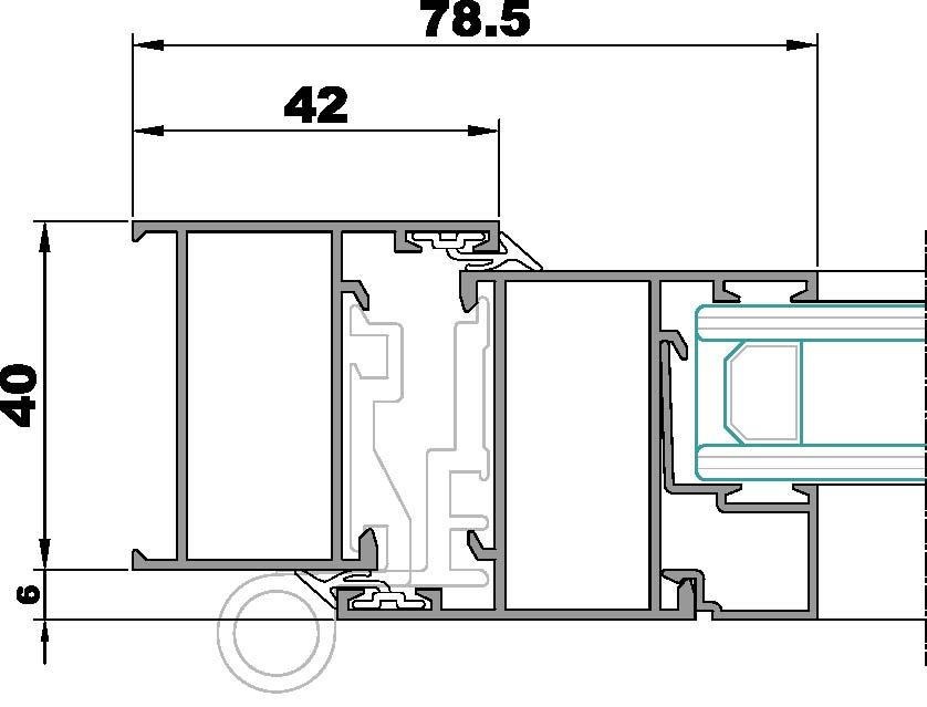 S100-Seccion lateral ventana