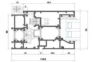 alg 65 C16-Seccion lateral apertura externa