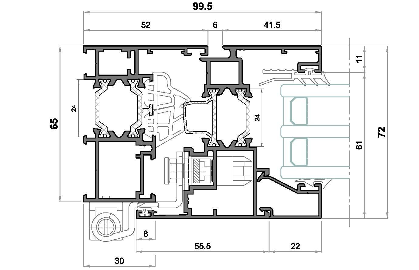 alg 65 C16-Seccion lateral ventana