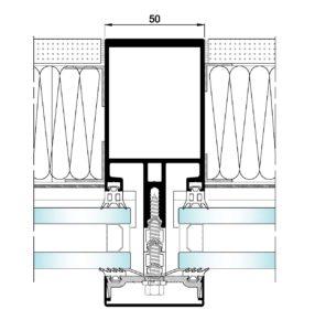 AL50 Tapetas-Seccion horizontal vidrio-panel