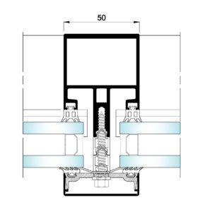 AL50 Tapetas-Seccion horizontal vidrio-vidrio