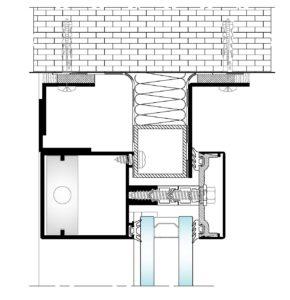 AL50 Tapetas-Seccion vertical superior encuentro muro
