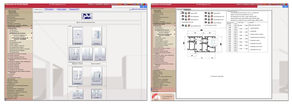 aplicación CYPE ingenieros sistemas ALUGOM