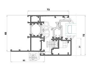 Alg 65 HS C16-Seccion lateral ventana Cerco solape