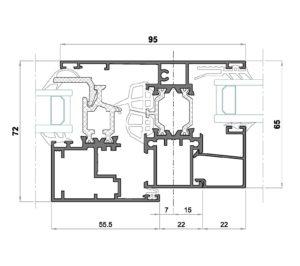 Alg 65 HS C16-Seccion pilastra ventana con fijo