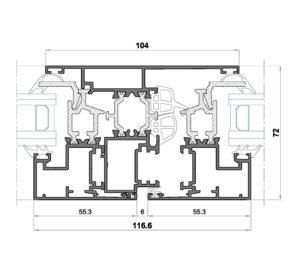 Alg 65 HS-Seccion central ventana