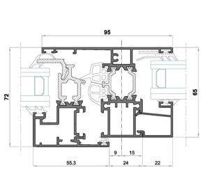 Alg 65 HS-Seccion pilastra ventana con fijo