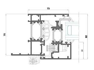 Alg 75 HS C16-Seccion lateral ventana Cerco solape