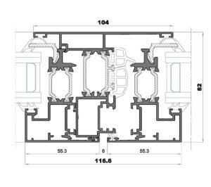 Alg 75 HS-Seccion central ventana