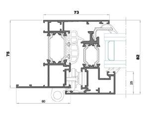 Alg 75 HS-Seccion lateral ventana Cerco solape