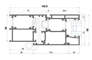 Alg 55-Seccion lateral balconera