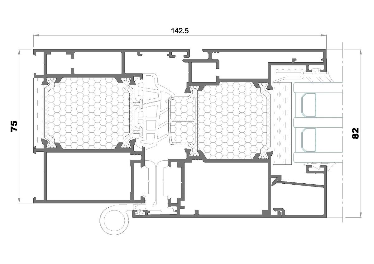Seccion lateral alg 75 Maxima Passivehouse