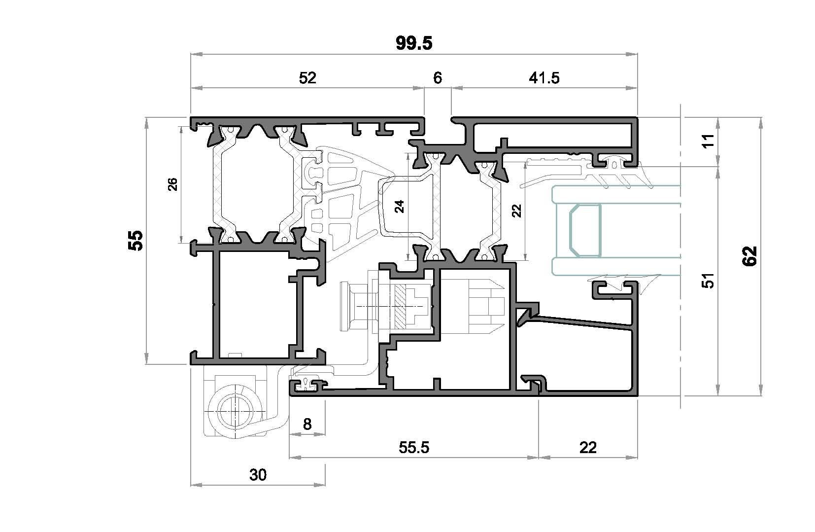alg 55 C16-seccion lateral ventana
